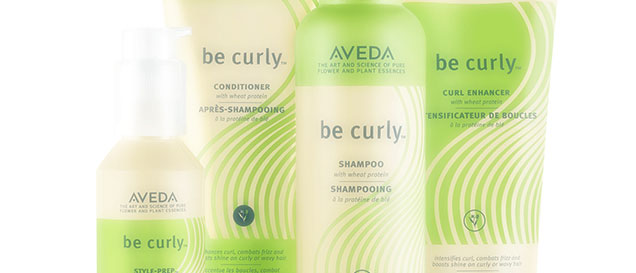 aveda be curly products